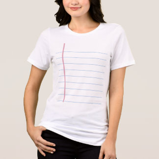Notebook Paper Graphic - Customize it! T-Shirt