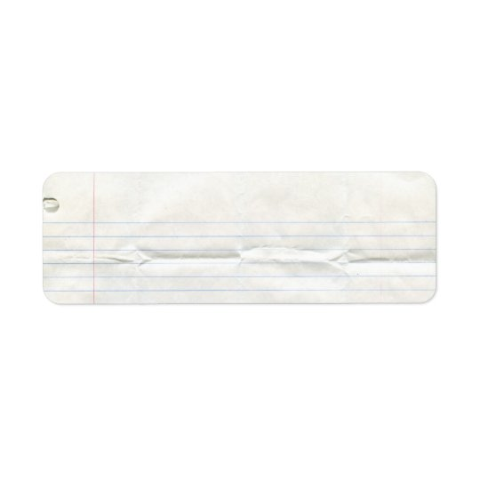 Notebook Paper Label