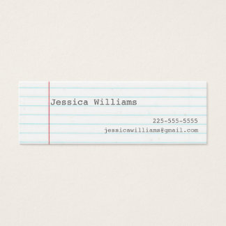 Notebook Paper Mini Business Card
