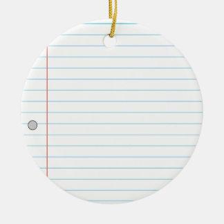 Notebook Paper Round Ceramic Decoration