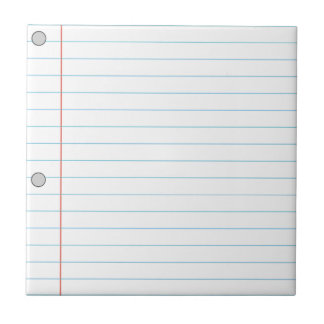 Notebook Paper Small Square Tile