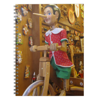 Notebook--Pinocchio Doll Spiral Note Books