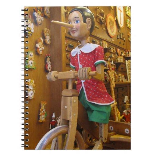 Notebook--Pinocchio Doll