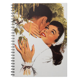 Notebook Retro Guest Book Engagement Party Notebk
