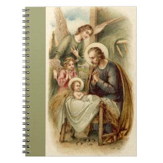 Notebook: St. Joseph Nativity Spiral Notebooks