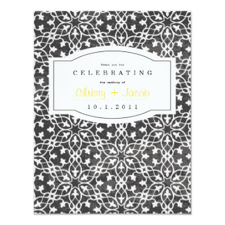 Notebook Thank You Note 11 Cm X 14 Cm Invitation Card