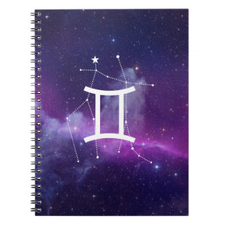Notebook the Géminis Zodiac (Violet)