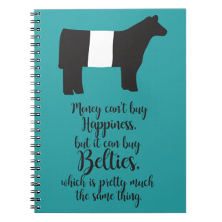 Notebook to show off your love for Belties