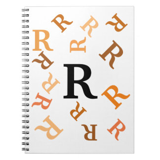 Notebook - Tumbled Orange Letters