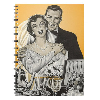 Notebook Vintage Wedding Bride & Groom Guest Book