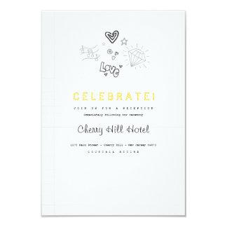 Notebook Wedding Invitation Insert