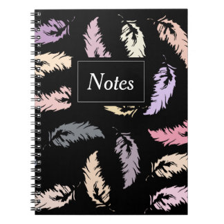 Notebook with photo Feathers