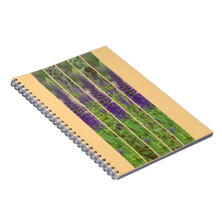 Notebook with photo Lavender