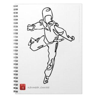 Notebook with spiral TAEKWONDO DWICHAGI back kick