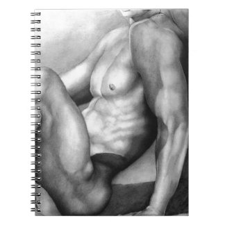 NOTEBOOKS Notebook with Fine Art Nude-male #2