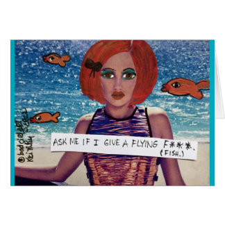 Notecard-ask me if I give a flying fish Card