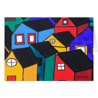 Notecard: Many Colored Houses Card