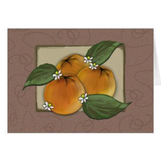 notecard - my favorite oranges crate label