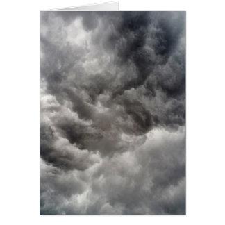 notecard showing a hurricane cumulating in clouds.