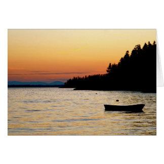Notecard Stonington, Maine Sunset