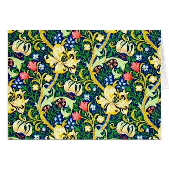 Notecard-Vintage Fabric/Fashion-William Morris 21 Card