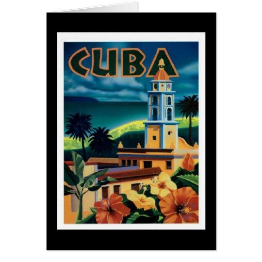 Notecard-Vintage Travel-Cuba Card