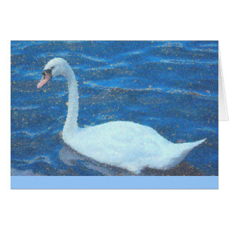 notecard, White Swan, Manipulated Photo, blank ins Note Card
