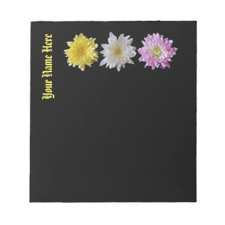 Notepad Flower Design Customizable