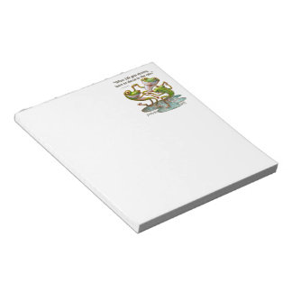 Notepad: Frogs Dancing in Rain With Quote Notepad