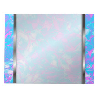 Notepad Grunge Art Floral Abstract