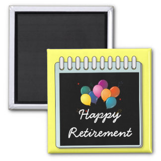 "Notepad: ""Happy Retirement"" note Square Magnet"