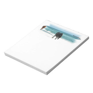 Notepad, horse design, equestrian, wild horses notepad