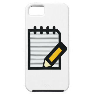 Notepad & Pencil iPhone 5 Cover