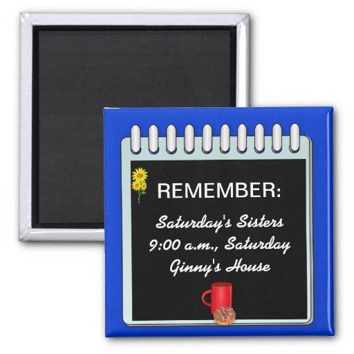 Notepad: Reminder Message template magnet
