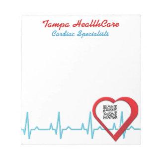 Notepad Template Heart Health