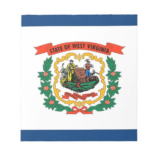 Notepad with Flag of West Virginia State