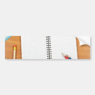 Notepad with stationery bumper sticker