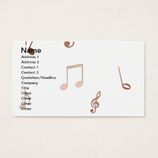 notes copper blue flut business  cards