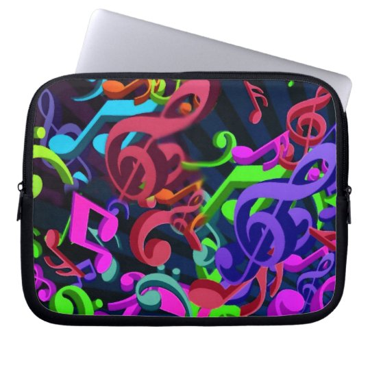 Notes in color__ laptop sleeve