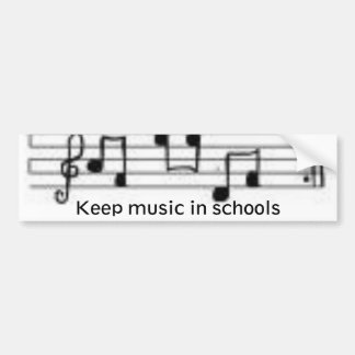 notes, Keep music in schools Bumper Sticker