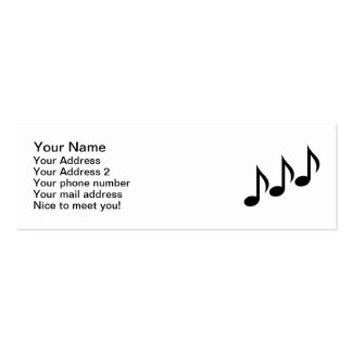 Notes music business cards