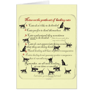 Notes on the Gentle Art of Herding Cats Greeting Card
