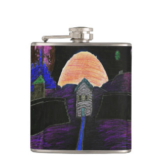Notes on the Wall Vinyl Wrapped Flask