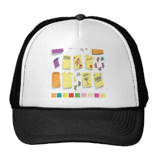 Notes set design cap