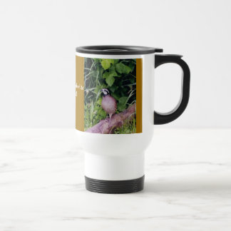 Nothern Bobwhite Quail Travel Mug
