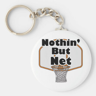 nothin but net basketball hoop key ring