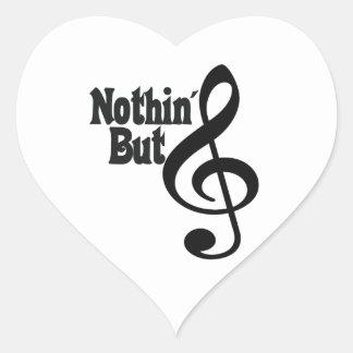 Nothin' But Treble Heart Sticker