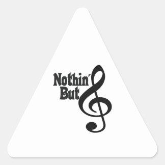 Nothin' But Treble Triangle Sticker