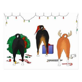 Nothin' Butt A Basenji Christmas Postcard