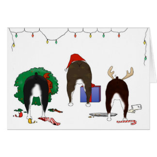Nothin' Butt A Boston Terrier Christmas Card